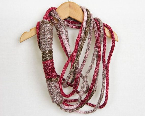 Scarf necklace infinity scarf