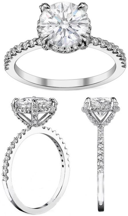 Engagement & The City | Crown Diamond Halo Engagement Ring. this is by far my favorite ring...ever! best friends take note!