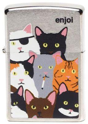 Zippo Lighter – Burnt Kitty