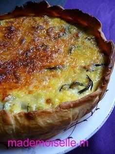 Tarte aux courgettes confites au romarin, chèvre & miel (Savory pie…