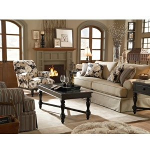 Emily Collection From Broyhill   Great Neutral Accented With A Bold Floral  And Subtle Stripe  . Living Room Accent ChairsLiving ...