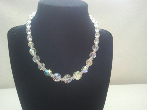 Stunning Vintage Aurora Borealis necklace with by Theforgottenfrog, $22.56