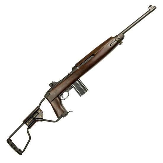 Inland Manufacturing M1A1 Paratrooper Semi Auto Rifle .30 Carbine 18 Barrel 15 Rounds Adjustable Sights Walnut Folding Wire Stock Parkerized ILM150