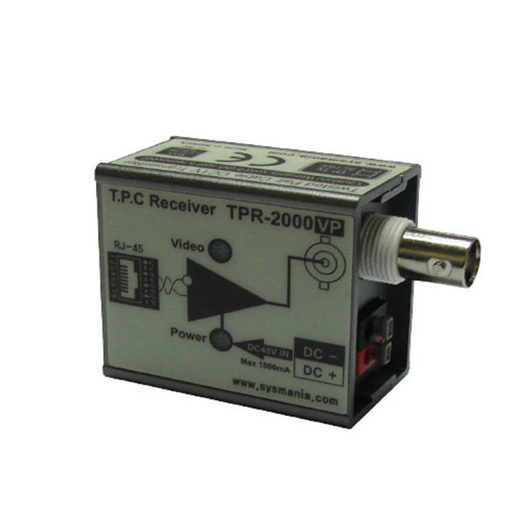 Sysmania UTP TPR-2000VP Twisted Pair Cable Receiver with Video & Power New #SysmaniaAllimex