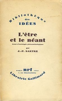 First edition of Being and Nothingness (L'etre Et Le Neant) by Jean Paul Sartre, 1943.