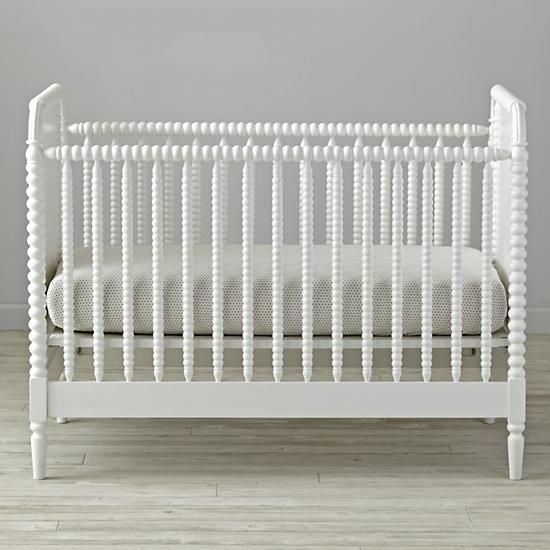 land of nod $599 - no wheels? Jenny Lind White Crib