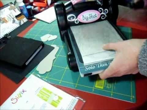 Come tagliare/fustellare la stoffa con la Big Shot TUTORIAL-Fliselina tutorial - YouTube