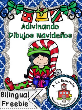 Adivinando Dibujos Navidenos (Similar to Pictionary)Includes instructions and 72 Christmas cards to play with.