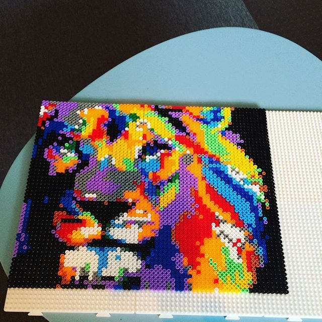 1697 best images about cuentas on pinterest perler bead - Hama beads cuadros ...