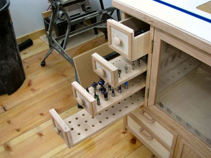 Router Bit Drawer Workshop In 2019 Woodworking Router