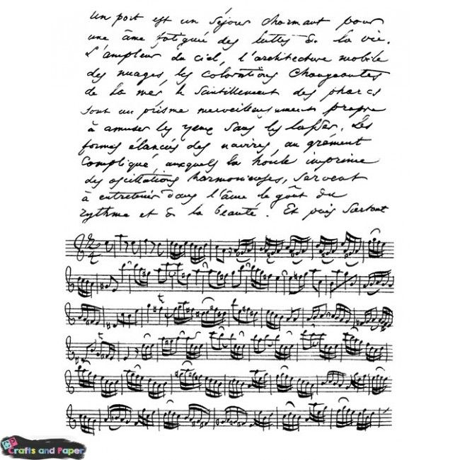 Crafts and paper Σφραγίδα λάστιχο 14Χ18 μusic