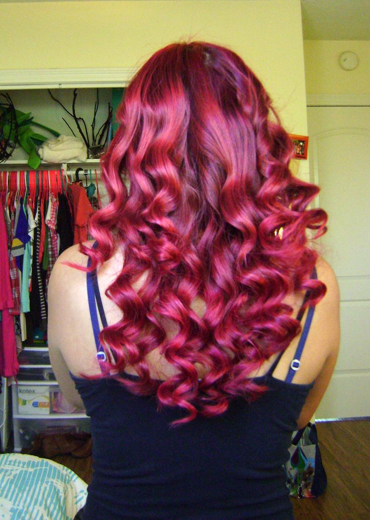 Red Hair without Bleach - L'Oreal Hi-Color Highlights. Curling Wand