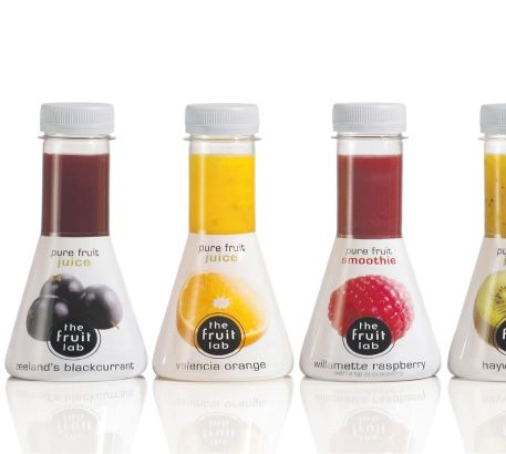 The Fruit Lab. Another awesome bottle shape.: Juice Inspirations, Fruit, D Ads Bottle, Bottle Shape, Packaging, Awesome Bottle, Design Package, Bottle Design, Juices Inspirations
