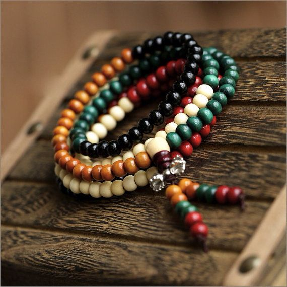 01 Buddhismus Nepal Tibet Sandelholz volle Japa von nepalesejewelry
