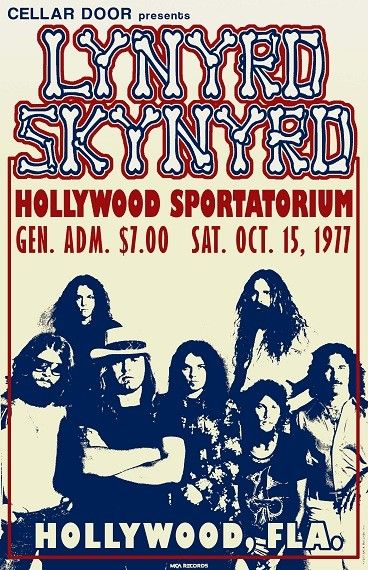 Items similar to Lynyrd Skynyrd 1977 Tour Poster on Etsy