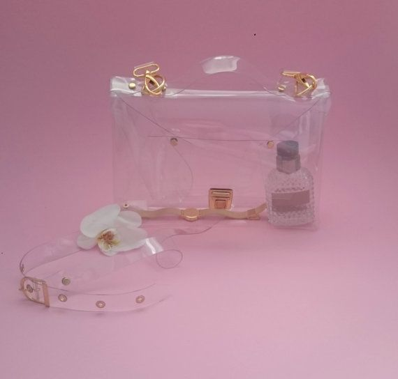 Check out this item in my Etsy shop https://www.etsy.com/listing/286381719/crossbody-bag-clear-see-through-plastic