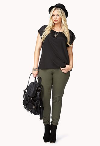 Classic Georgette Top   FOREVER21 PLUS - 2040496942