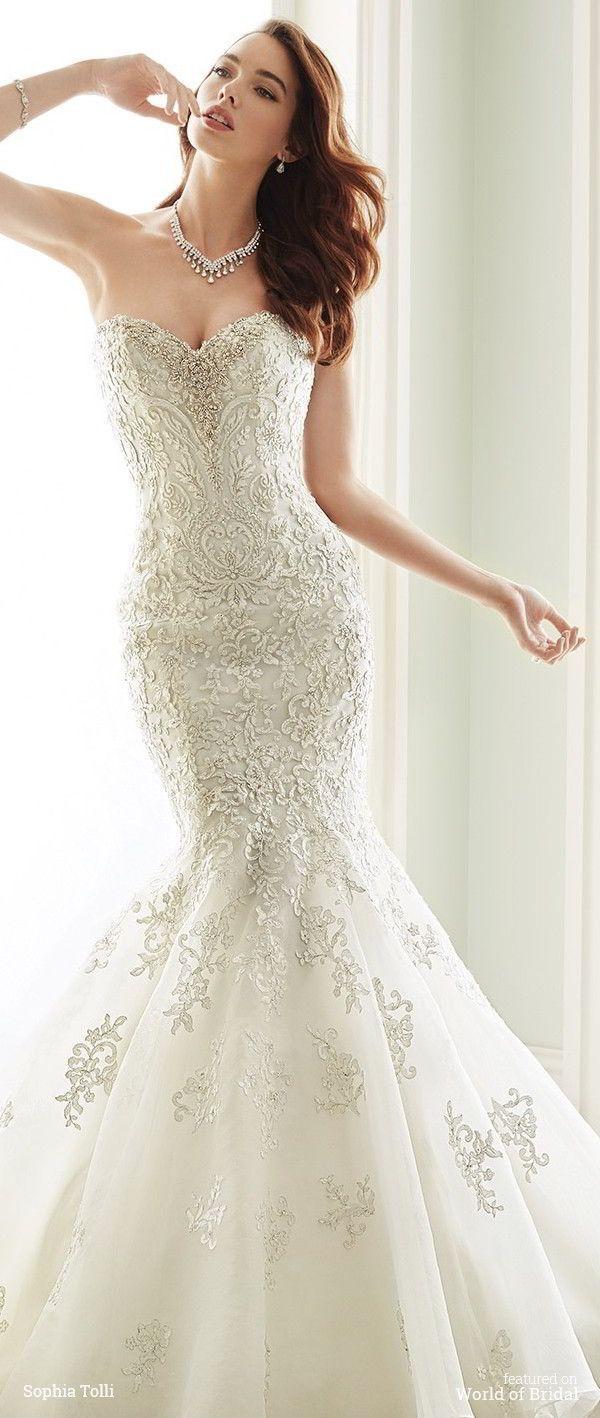 875 besten BB wedding dresses lace open back 2016-2017 Bilder auf ...