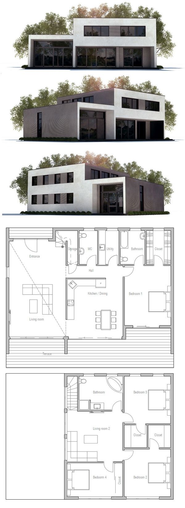 Modern Contemporary House Plan, Architecture