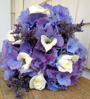 Violettas: Blueish Purple Hydrangea Bouquet