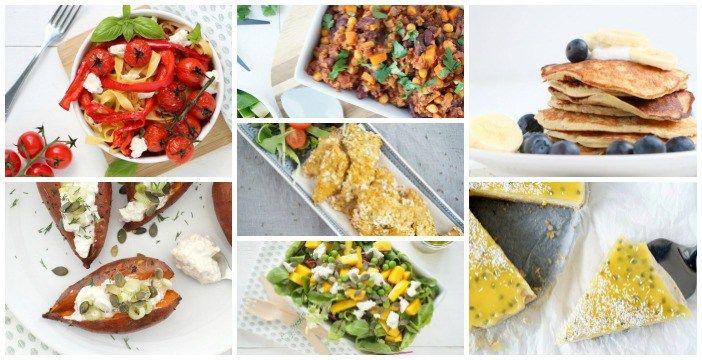 Inspiratie voor makkelijke maaltijd recepten? Ik zet een weekmenu voor je klaar. Allemaal lekkere, snelle en gezonde maaltijden voor doordeweeks