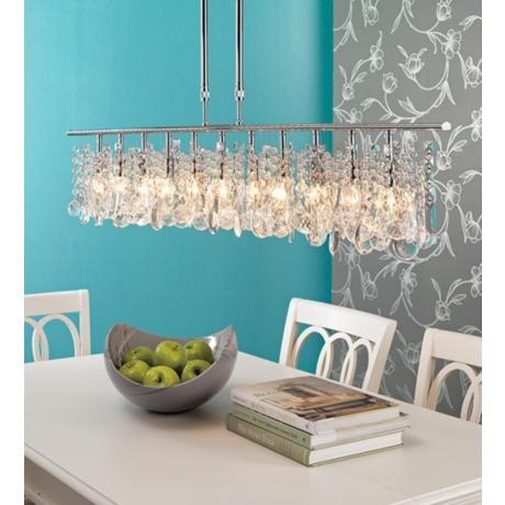 Luminous Collection 48 Wide Crystal Chandelier Lampsplus Dining