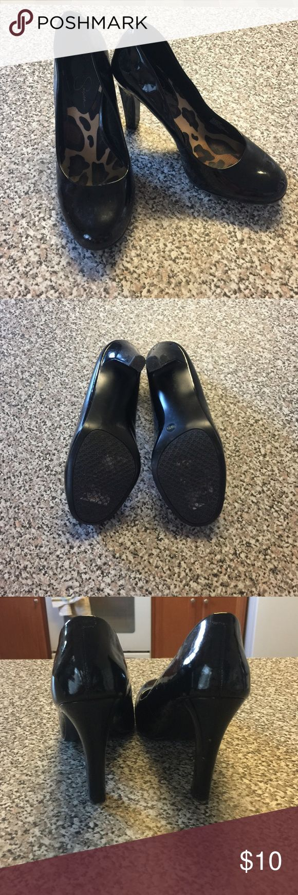 Jessica Simpson Pumps Black Jessica Simpson pumps in good condition. Heel height: approx 3 in. Jessica Simpson Shoes Heels