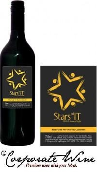 A simple, but effective  Custom Designed Label from  Corporate Wine added to bottles of our Bronze Range Riverland 2011 Merlot Cabernet enhanced this Awards Night.