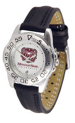 Missouri State Bears Suntime Ladies Sports Watch w/ Leather Band - NCAA College Athletics by Sun Time/Links Warner. $41.95. The Lady's Sport AnoChrome Watch is a step up in the Lady's Sport series. The anochrome dial option increases the visual impact with a stunning radial reflection similar to that of the shiny underside of a music CD. A date calendar plus a rotating bezel/timer circles the scratch resistant crystal. Sport your team's bold, colorful, high qual...