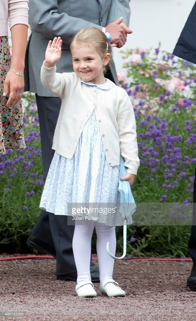 Princess Estelle of Sweden attends the Celebration for her mother, Crown Princess Victoria of Sweden's 38th Birthday at Solliden Palace, on July 14th, 2015 in Borgholm, Sweden.