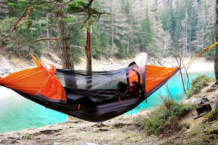 Camping Hängematte und Zelt für eine Person 'Flying Tent'