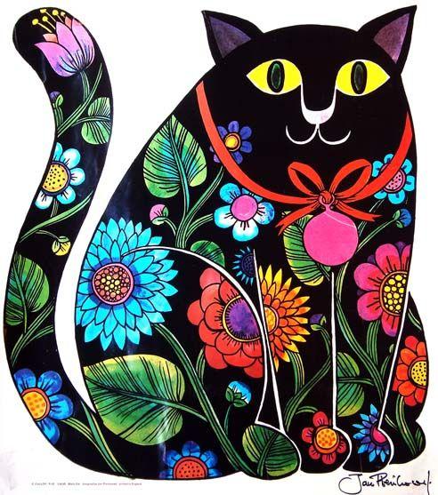 UK (Polish Born) ~ Jan Pienkowski ~ Folk Art Cat
