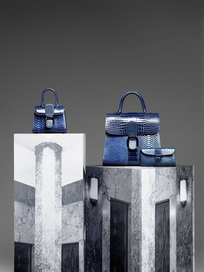 Delvaux Fall/Winter 2015 bags collection   Bleu de Prusse color