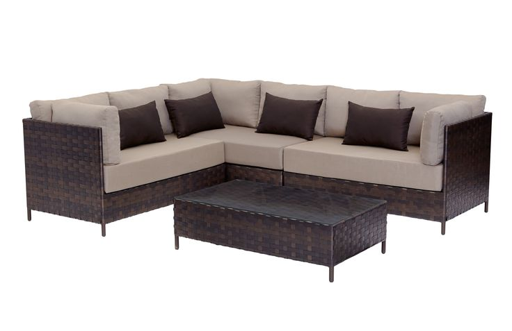 Barbeques Galore - Products - Santiago 4 Piece Modular Lounge Setting