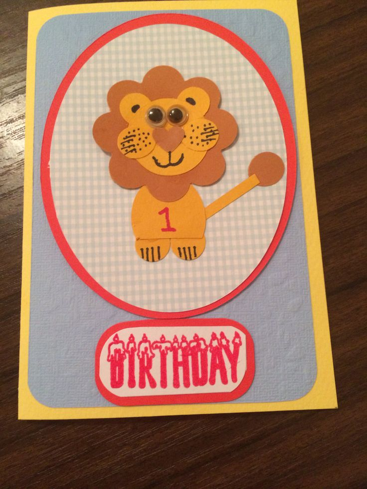 Lion card made by me.