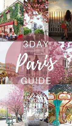 I get it! How do you spend only three days in Paris, France and feel like you've seen enough of the city to go home and tell your friends 'I've been to Paris'? The trouble is, the city of lights is just so vast and there is so much to explore! Here's a three day Itinerary to inspire you!
