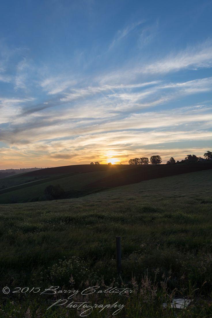 A sunset taken in Gembrook, Victoria, Australia.