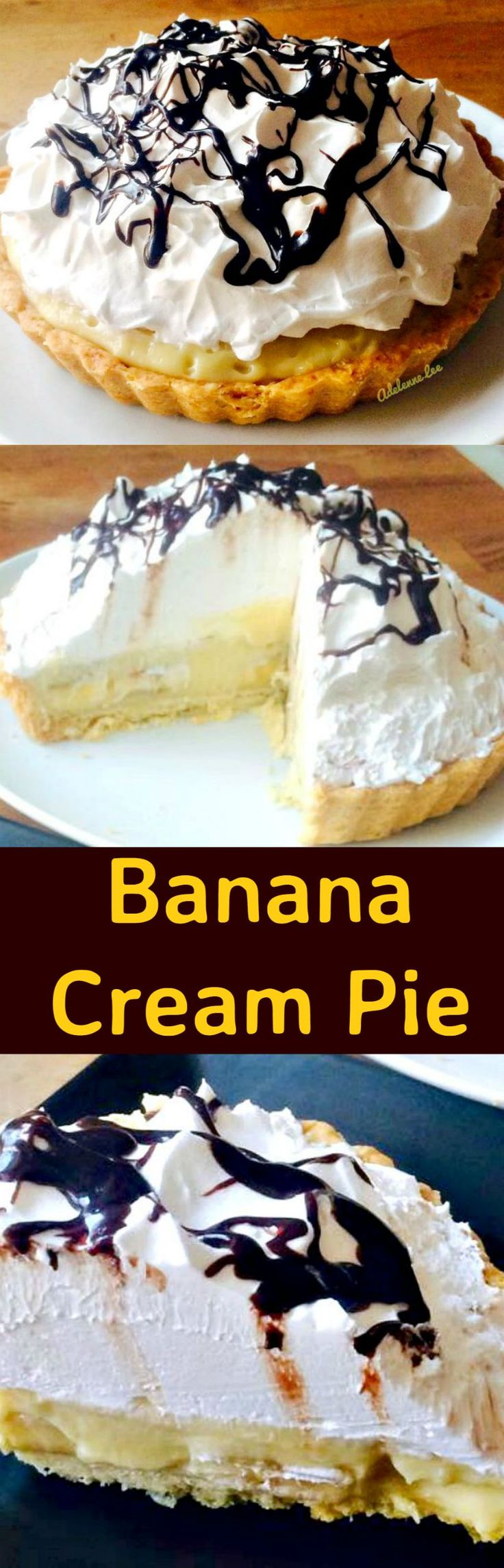 Banana Cream Pie, made from scratch, VERY easy and oh so delicious!   Lovefoodies.com
