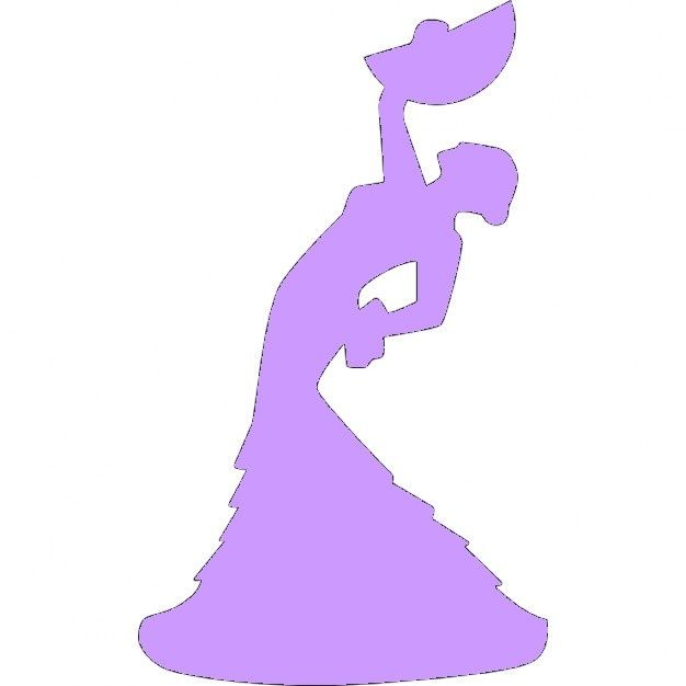Fichier sst ** danseuse flamenco  ** pour silhouette studio cameo