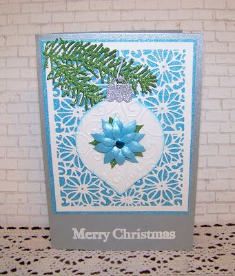 Seems odd posting a Christmas card on Halloween Day, but if you are a card maker, you know how you always have to be ahead of the gam...