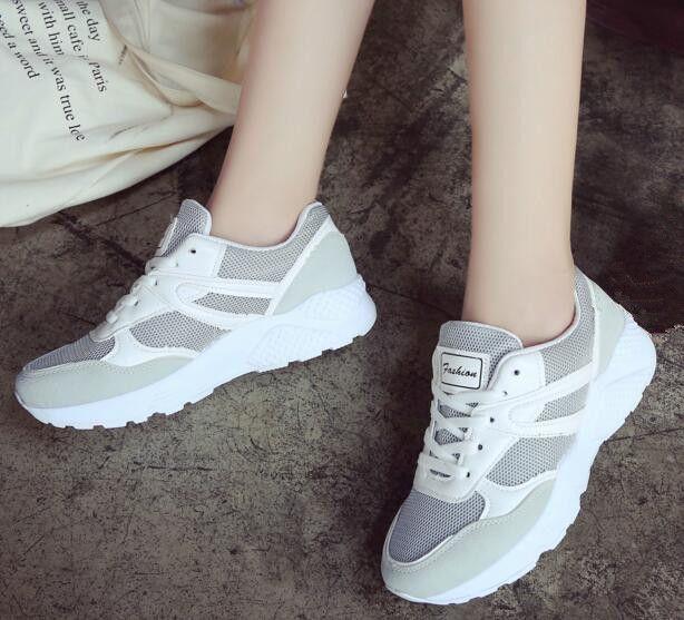 2017 de la moda de Malla transpirable zapatos de los hombres y los niños Cómodas zapatillas de deporte de las mujeres zapatos al aire libre tamaño 36-44