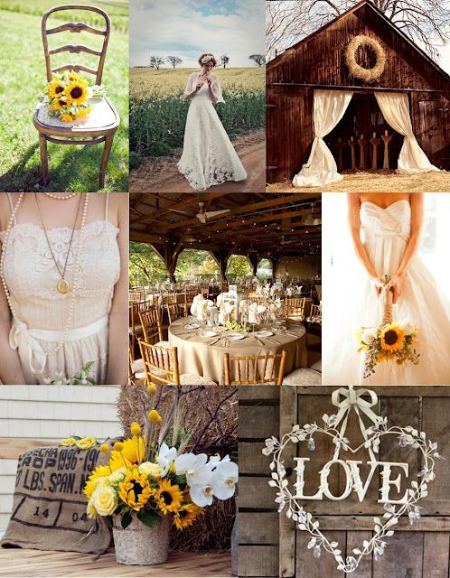 Rustic Sunflowers Wedding Inspiration