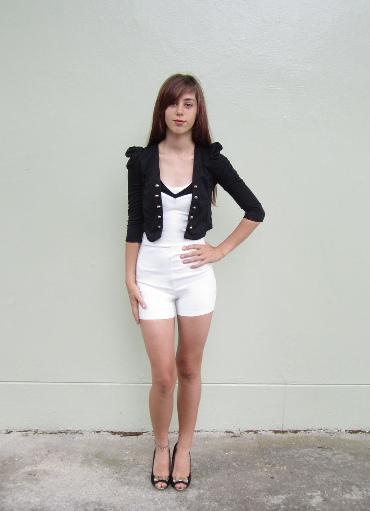 Strapless Romper Size 06 $19.99  Black, Gold Buttoned Jacket Size 06 $14.99