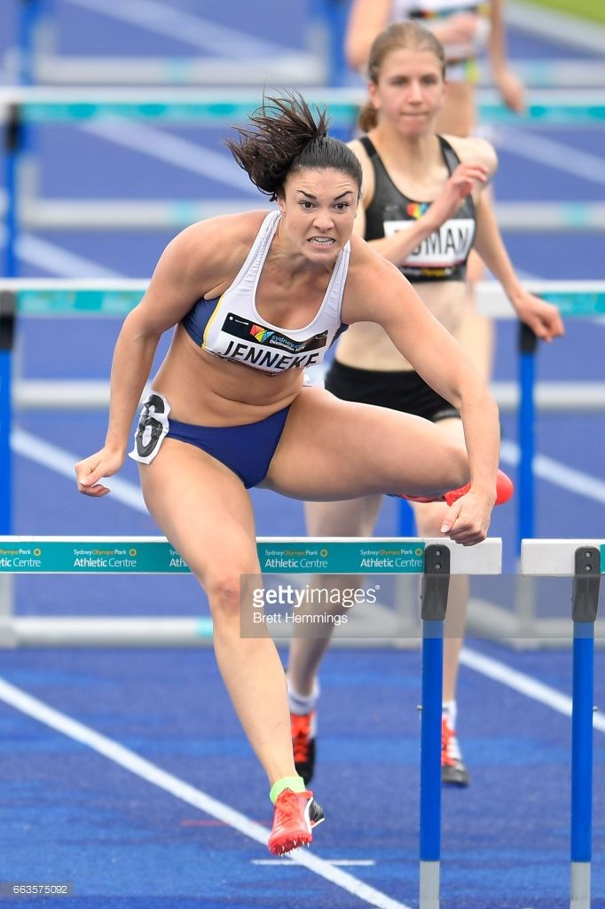 Michelle Jenneke of NSW competes in her Open Womens 100m Hurdles event during day eight of the 2017 Australian Athletics Championships at Sydney Olympic Park on April 2, 2017 in Sydney, Australia.