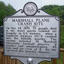 Marshall University Plane Crash Site Marker at Huntington, West Virginia's Tri-State Airport