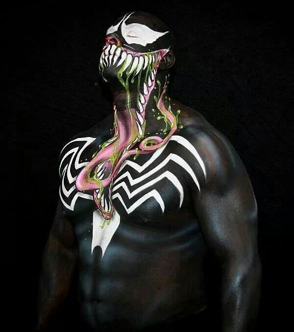 Prince Devitt new WWE wrestler as Venom... not sure if WWE will let him use this