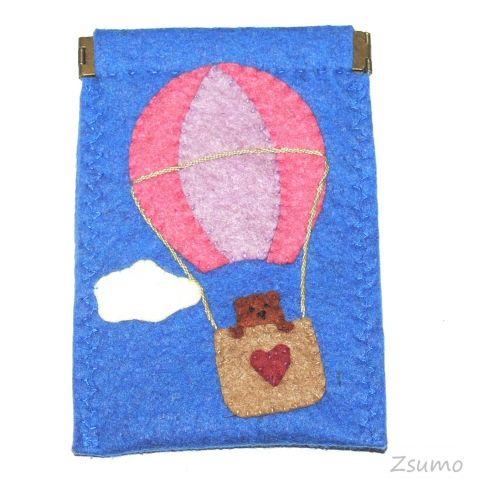 Phone case, bear, balloon, felt