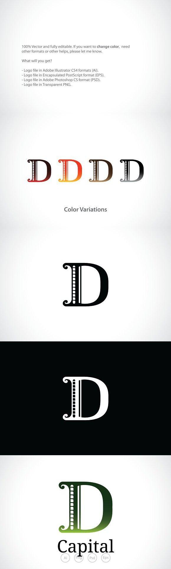 Letter D Logo Template Logo Templates Lettering Letter Logo
