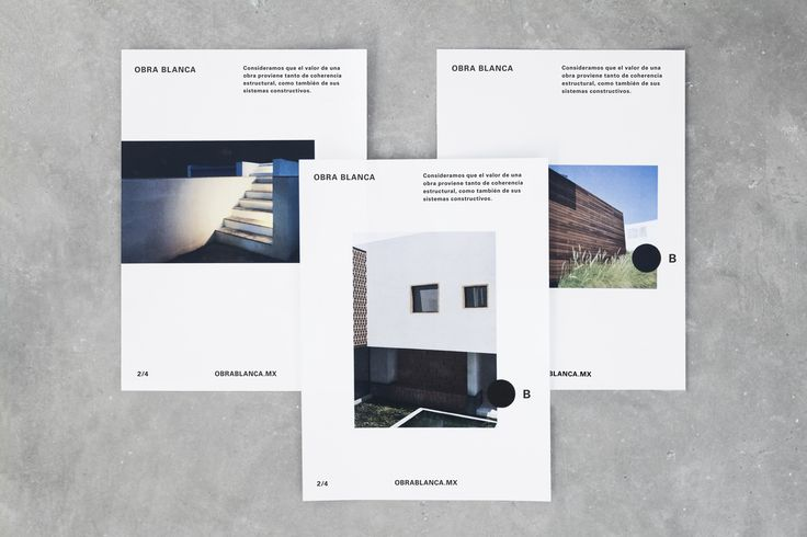 Brand identity and brochures for Mexican architecture studio Obra Blanca designed by Savvy