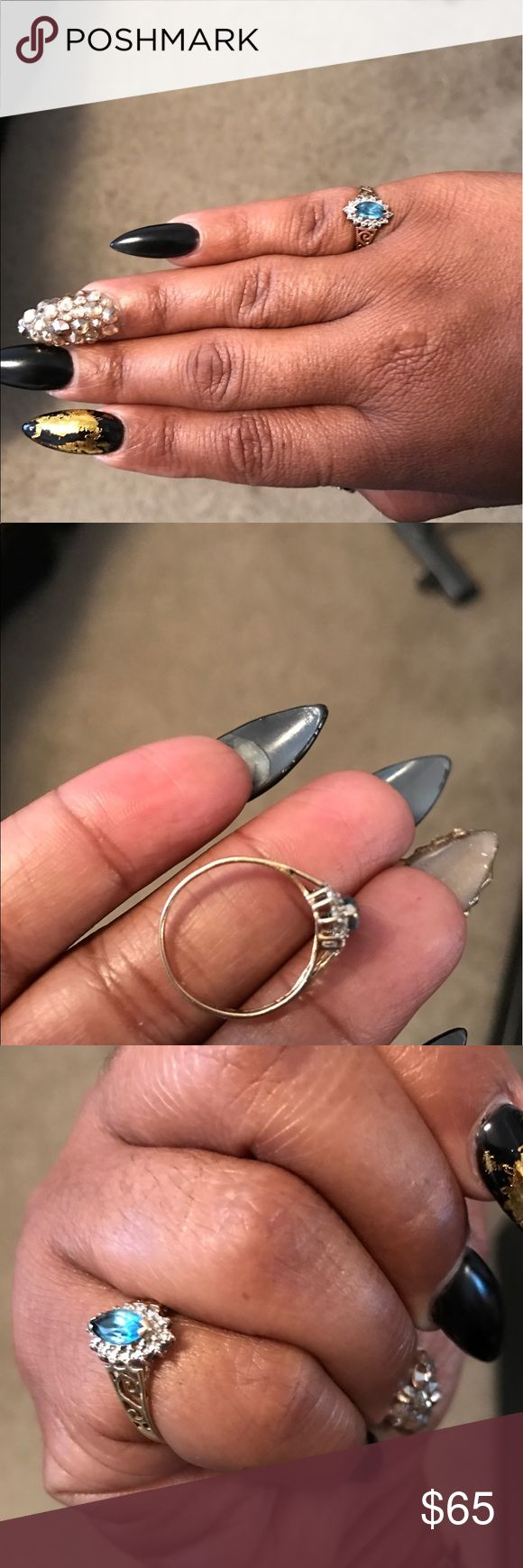 10k ring. Size 6 for sale or trade This is a cute 10k diamond ring. It's loose on my pinky so I think it was a size 6. Decembers birthstone. With a cute antique style. Paid $122 asking $60 or best offer. Real gold. Jewelry Rings